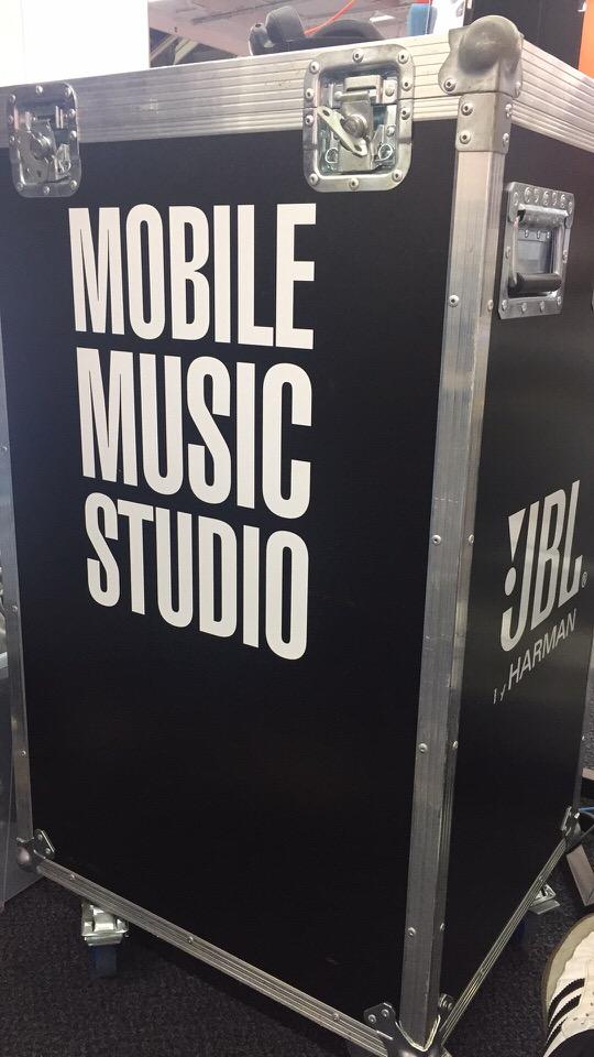 """Transportcase mit Aufdruck """"Mobile Music Studio"""""""