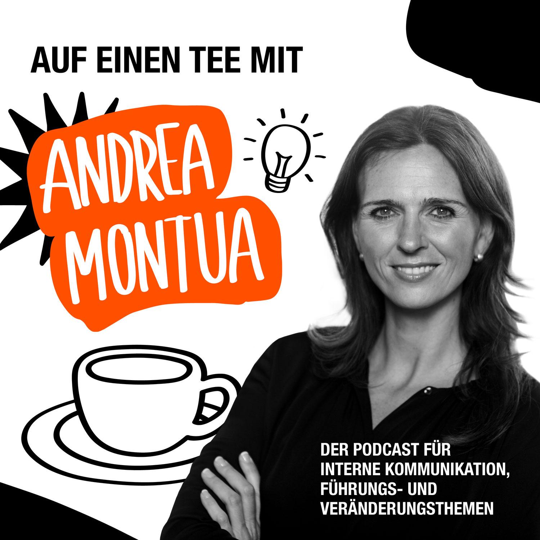 """Cover des Podcasts """"Auf einen Tee"""" mit Andrea Montua"""