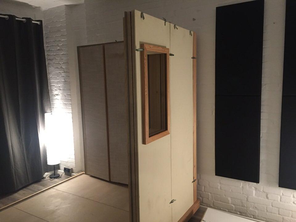 Aufbau der Aufnahmekabine