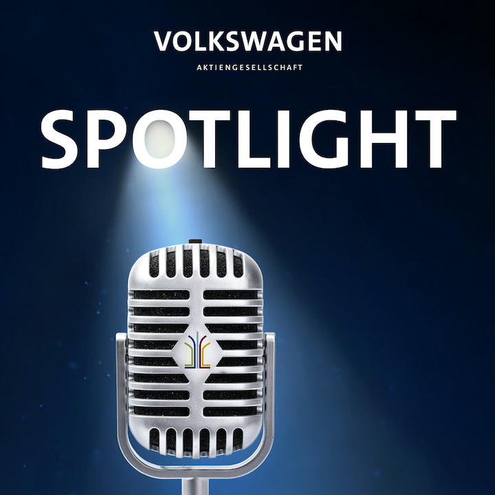 "Cover des Podcasts ""Spotlight"" der Volkswagen AG"