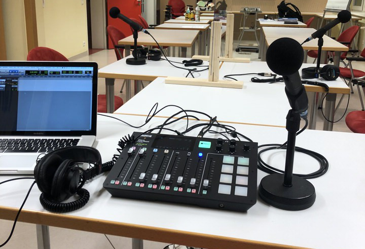 Aufnahmesituation für den Podcast Gut Durchblutet