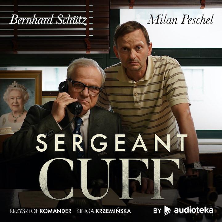 """Cover des Hörbuchs """"Sergeant Cuff"""" mit Bernhard Schütz und Milan Peschel in den Hauptrollen"""